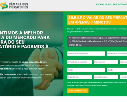 camara dos precatorios portifolio site felipetto marketing