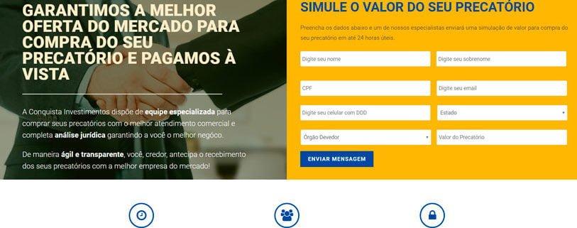 conquista precatorios portifolio site felipetto marketing