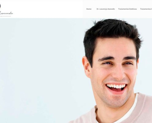 LA dermatologia portifolio site felipetto marketing