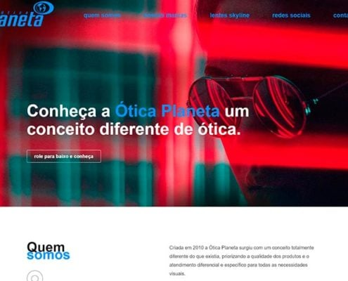 website Otica Planeta