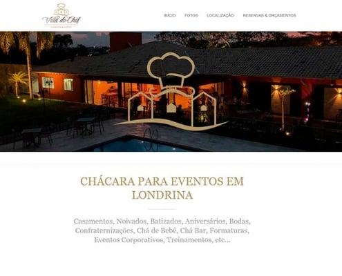Website Villa do Chef